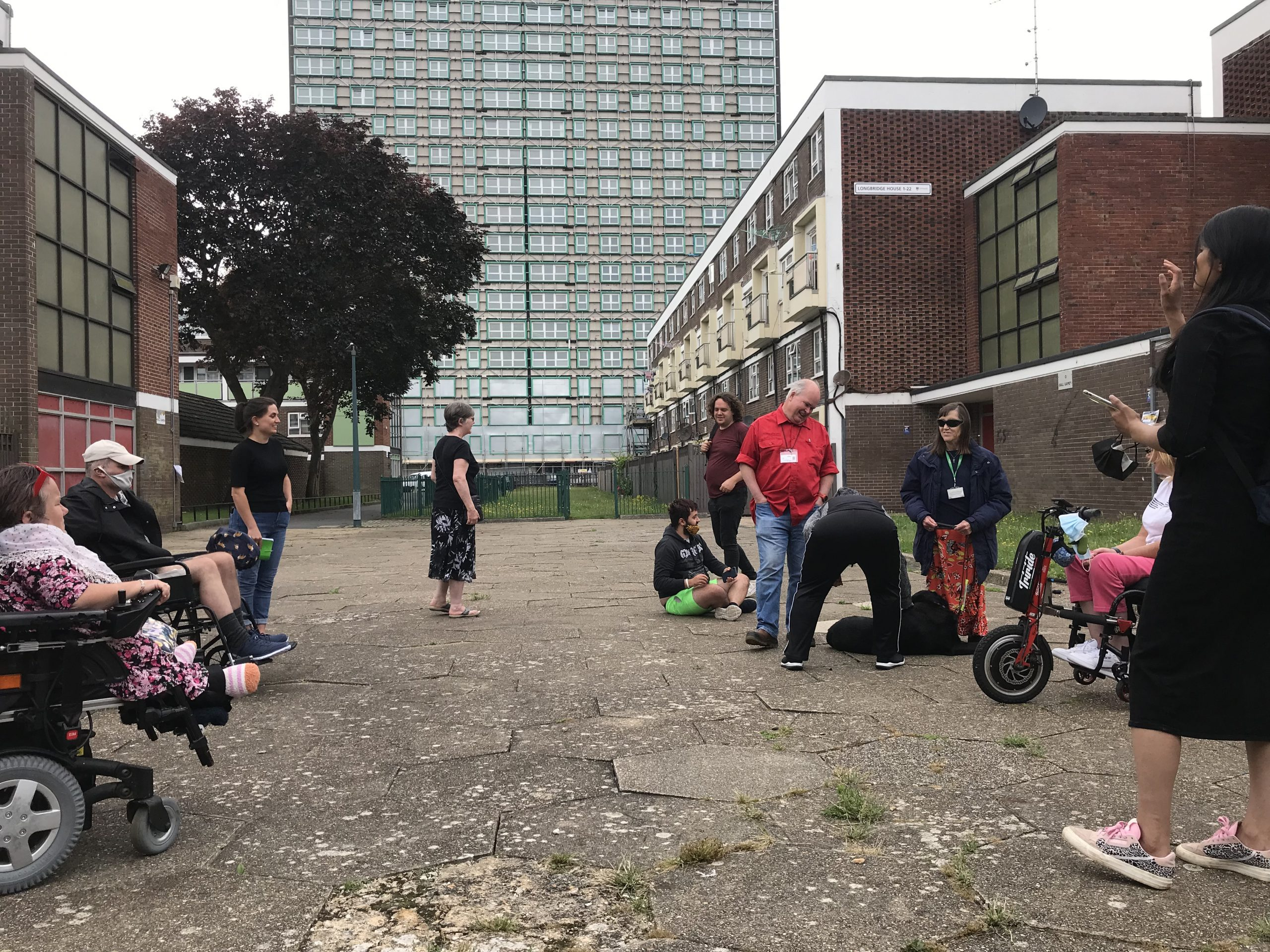 Local people living with disabilities gave the design team from Karakusevic Carson Architects a tour of Somerstown to show the architects how they experience the area.