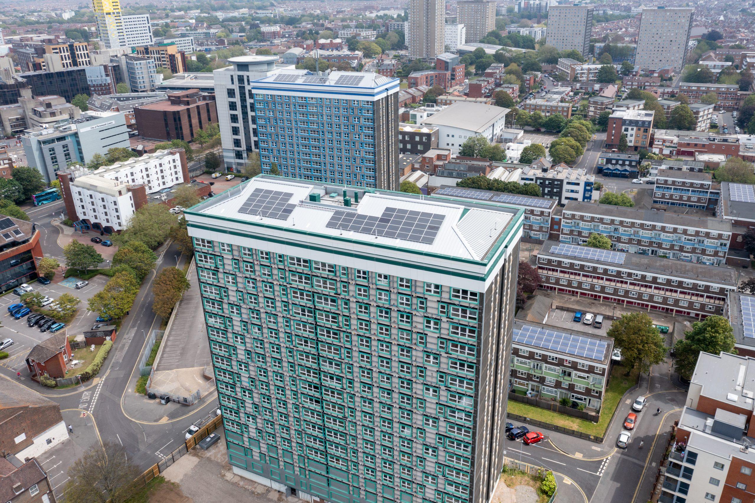 Aerial views of Horatia & Leamington Houses
